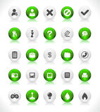 Buttons for web. Shiny color buttons for web Royalty Free Stock Images