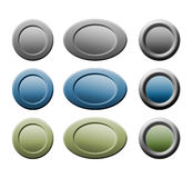Buttons for web. Round and oval / ellipse buttons for your web bulding Vector Illustration
