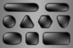 Buttons for web (black variation) Royalty Free Stock Photos