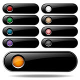 Buttons for web design Royalty Free Stock Images