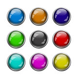 Buttons for web design over white Stock Photo