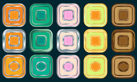 Buttons for Web devices Stock Photography