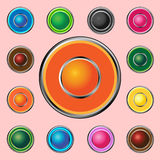 Buttons for Web devices 2 Stock Images
