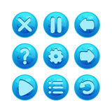 Buttons for Web or Game Design Stock Photos