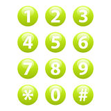 Buttons for web Phone icon sign web Stock Images