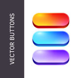 Buttons for Web sites and applications. Royalty Free Stock Photos