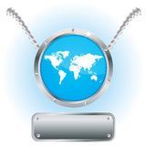 Buttons for web (vector). Buttons for a web and world map (vector Stock Illustration