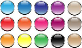 Buttons in web2.0 style Royalty Free Stock Images