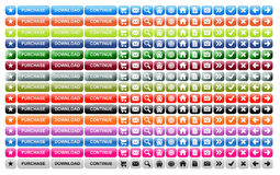buttons website Royaltyfri Fotografi