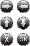 buttons website Royaltyfria Foton