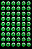 buttons website Royaltyfri Foto