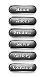 buttons website Arkivfoto