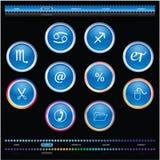 buttons website stock illustrationer