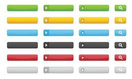 buttons websites Fotografering för Bildbyråer