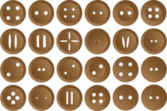Buttons  on white background Stock Photos