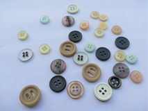 Buttons white background Stock Photography