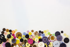 Buttons on white background Royalty Free Stock Photo