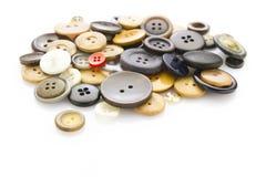 Buttons on white Stock Photos