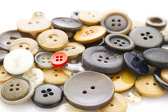 Buttons on white Stock Photo