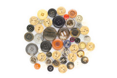 Buttons on white Stock Images