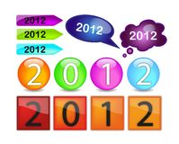 Buttons with written 2012 Royalty Free Stock Image