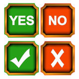 Buttons yes and no Royalty Free Stock Photography