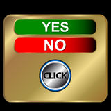 Buttons yes and no Royalty Free Stock Images