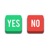 Buttons Yes or No Stock Photography