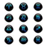 buttons zodiac Arkivbild
