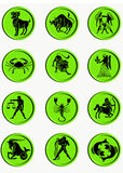 Buttons zodiac. Set buttons signs of the zodiac Royalty Free Stock Photography