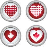 buttons3 Канада Стоковое Изображение