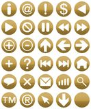 Buttonset Gold Stock Images
