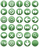 Buttonset Grün Stockfoto