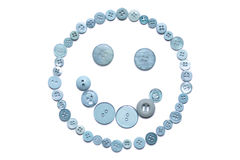 Buttonsmiley Stock Afbeelding