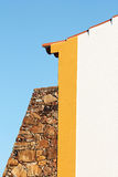 Buttress stone wall. Holding housing Royalty Free Stock Photography