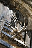 buttresses милан Италии летания собора Стоковое Изображение RF