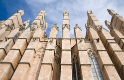 Buttresses, cathedral La Seu Royalty Free Stock Image