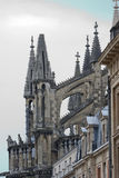 Buttresses to support the side wall of the Cathedral. In Reims Royalty Free Stock Images