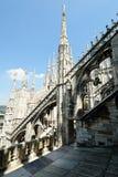 Buttresss di volo, cattedrale di Milano, Lombardia, Italia fotografia stock libera da diritti