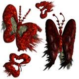 buttryfly grungeset Arkivbild