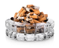 Butts in ashtray Stock Photo