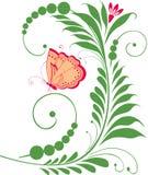 Buttterfly op Th-bloem Royalty-vrije Stock Afbeelding