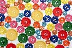 Butttons brillantemente colorati Fotografia Stock Libera da Diritti