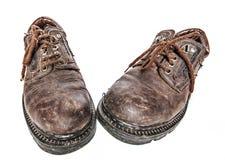 buty brudzą starego Obrazy Royalty Free