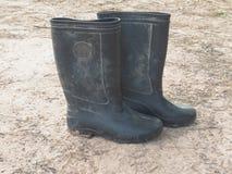 Buty dla pracowników budowlanych Fotografia Stock