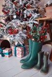 buty gumkę zielone Zdjęcie Stock