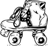buty illu retro rolkowego wektora Fotografia Stock