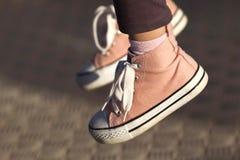 Buty młoda dziewczyna Fotografia Stock