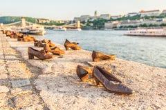 Buty na Danube banku fotografia royalty free