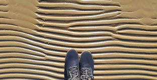 Buty na morze plaży Obraz Stock